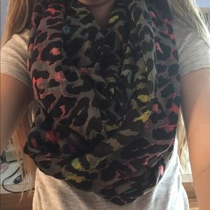 Accessories - Colorful Leopard Print Infinity scarf